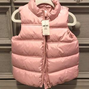 BABY GAP - soft pink puffer vest